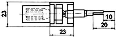 Рис.1. Габаритные размеры датчика измерения температуры ТП 110