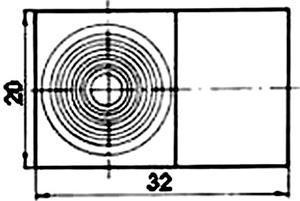 Рис.1. Габаритные размеры датчика измерения температуры ТП 110А