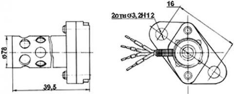 Рис.1. Габаритные размеры датчика измерения температуры ТП 227