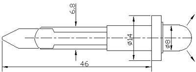 Рис.1. Габаритные размеры светодиодной арматуры АСКМ-С-12Л-8БС