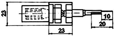 Рис.1. Габаритые размеры датчика измерения температуры ТМ 104А