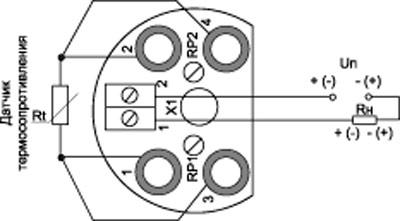 Рис.1. Схема подключения преобразователя PSA-02.02.ХХ.ХХ.ХХ