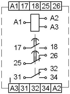Рис.1. Схема подключения реле ВЛ-73М