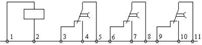 Рис.1. Схема подключения реле ВЛ-82