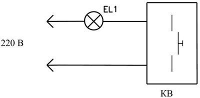 Рис.1. Схема подключения реле времени для коридорного выключателя КВ1.1