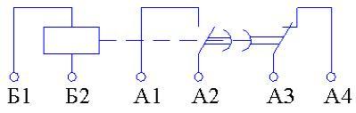 Рис.1. Схема подключения реле времени ВЛ-50