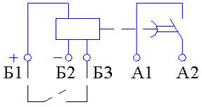 Рис.1. Схема подключения реле времени ВЛ-51А