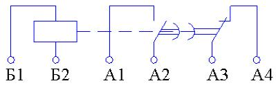 Рис.1. Схема подключения реле времени ВЛ-52