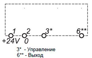 Рис.1. Схема подключения  реле времени ВЛ-63