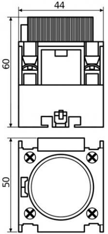 Рис.1. Схема габаритных размеров БЗ-12 блока задержки выключения
