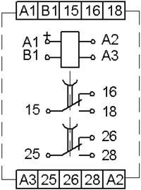 Рис.2. Схема плдключения реле времени ВЛ-75М