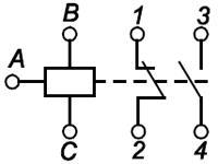 Рис.2. Схема подключения реле ЕЛ-12