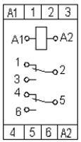 Рис.2. Схема подключения  реле максимального напряжения НЛ-6А-1