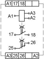Рис.2. Схема подключения реле ВЛ-78М