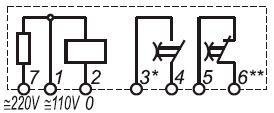 Рис.2. Схема подключения реле времени ВЛ-65