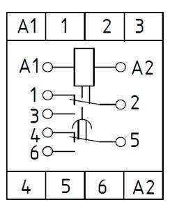 Рис.2. Схема подключения реле времени ВЛ-73А