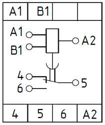 Рис.2. Схема подключения реле времени ВЛ-75А