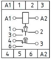 Рис.2. Схема подключения реле времени ВЛ-76А