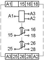 Рис.2. Схема подключения реле времени ВЛ-76М