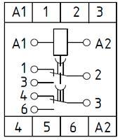 Рис.2. Схема подключения реле времени ВЛ-77А