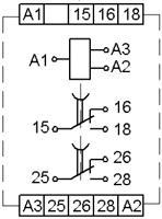 Рис.2. Схема подключения реле времени ВЛ-77М