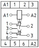 Рис.2. Схема подключения реле времени ВЛ-78А
