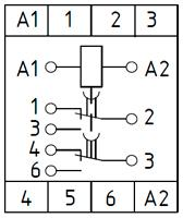 Рис.2. Схема подключения реле времени ВЛ-79А