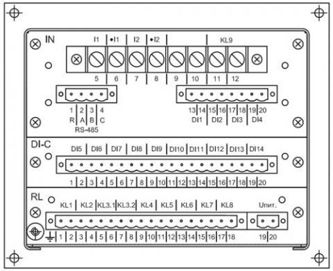 Рис.2. Схема расположения выводов для подключения к устройству РС83-С
