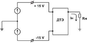 Рис.2. Схема включения датчика тока ДТЭ-25-200М