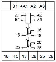 Рис.2. Схемы подключения реле с дискретным питанием