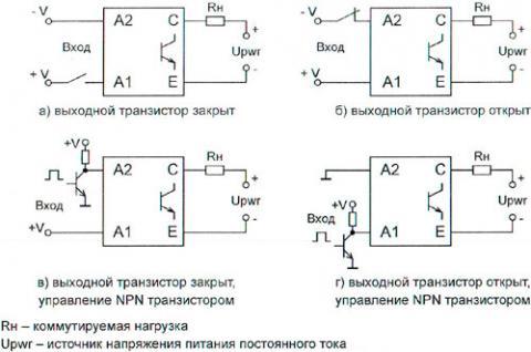 Рис.2. Типовые схемы включения модуля гальванической развязки