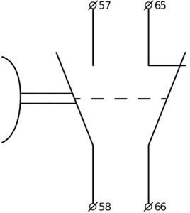 Рис.2. Принципиальная схема БЗ-12 блока задержки выключения