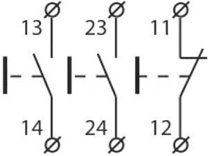 Рис.2. Схема подключения поста управления XAL-B334