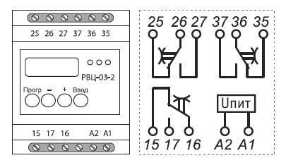 Рис.2. Схема подключения РВЦ-03-2