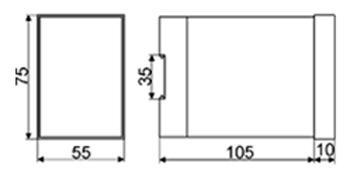 Рис.3. Габаритные и установочные размеры