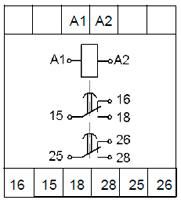 Рис.3. Схема подключения реле ВЛ-176 с универсальным питанием