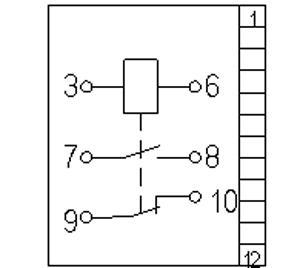 Рис.3. Схема подключения реле