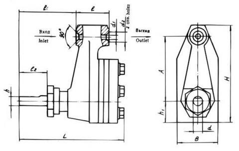 Схема габаритов насоса 11НШ-1,8А4