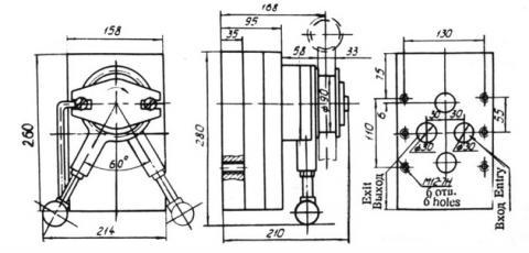 Схема габаритов насоса 15НШ-75НИ