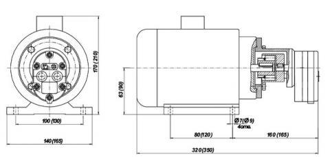 Схема габаритов насосных агрегатов БГ11-1