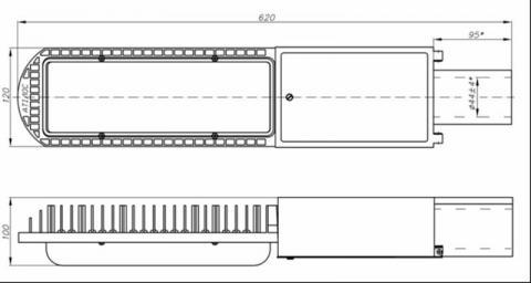 Схема светильника ДКУ 40