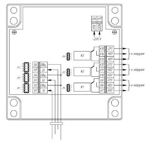 Схема подключения датчика ДК-3 к сигнализатору РСУ-31