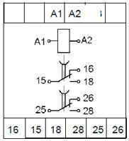 Схема подключения реле ВЛ-177 с универсальным питанием