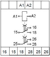 Рис.3. Схема подключения реле ВЛ-178 с универсальным питанием