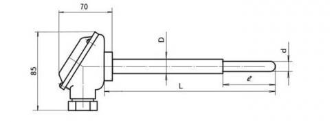 Схема габаритов преобразователя ТПР-1788