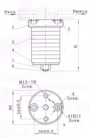 Фильтр сетчатый 0,04С42-54А - схема