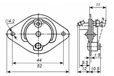 Габаритная схема термовыключателя