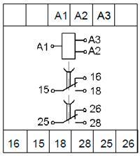 Схемы подключения реле ВЛ-177 с дискретным питанием