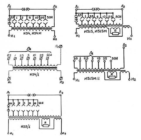 Принципиальные схемы трансформаторов