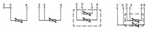 Схема соединений преобразователей ТСП-8040Р